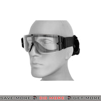 Lancer Tactical Airsoft One-Piece Lens Safety Goggles CA-234B - Clear Lens Head - Goggles- ModernAirsoft.com