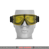 Lancer Tactical Airsoft One-Piece Lens Safety Goggles CA-234Y - Yellow Lens Head - Goggles- ModernAirsoft.com