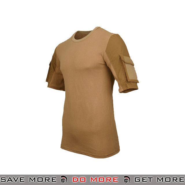Lancer Tactical Specialist Short Sleeve Combat Shirt CA-2741CB-L - Large, Coyote Brown Shirts- ModernAirsoft.com