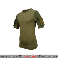 Lancer Tactical Specialist Short Sleeve Combat Shirt CA-2741G-L - Large, OD Green Shirts- ModernAirsoft.com