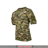Lancer Tactical Specialist Short Sleeve Combat Shirt CA-2741WD-XL - Extra Large, Digital Woodland Shirts- ModernAirsoft.com