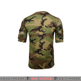 Lancer Tactical Specialist Short Sleeve Combat Shirt CA-2741W-L - Large, Woodland Shirts- ModernAirsoft.com