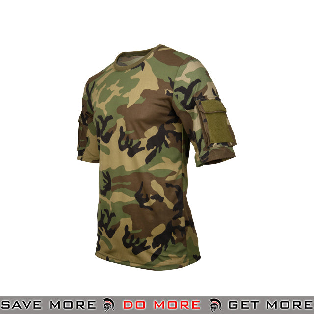 Lancer Tactical Specialist Short Sleeve Combat Shirt CA-2741W-XL - Extra Large, Woodland Shirts- ModernAirsoft.com