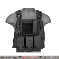 Lancer Tactical MBSS Style Plate Carrier Vest w/ Pouches - Black