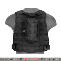Lancer Tactical MBSS Style Plate Carrier Vest w/ Pouches - Black plate carrier- ModernAirsoft.com