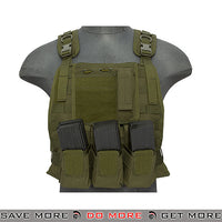 Lancer Tactical MBSS Style Plate Carrier w/ Pouches - OD Green plate carrier- ModernAirsoft.com