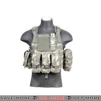 Lancer Tactical Modular Body Armor Carrier Vest w/ Pouches - ACU plate carrier- ModernAirsoft.com