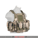 Lancer Tactical Modular Body Armor Carrier Vest w/ Pouches - Foliage Camo plate carrier- ModernAirsoft.com
