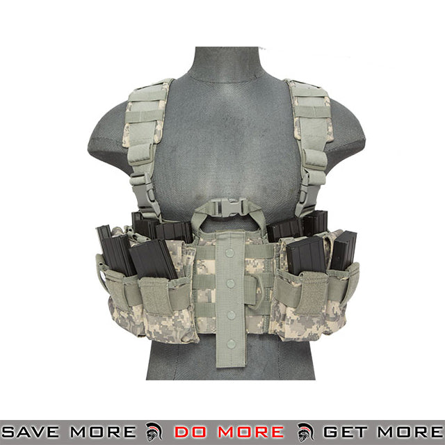 Lancer Tactical Split Front M4 Chest Harness - ACU Chest Rigs & Harnesses- ModernAirsoft.com