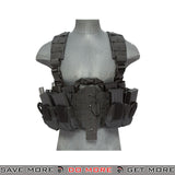 Lancer Tactical Split Front M4 Chest Harness - Black Chest Rigs & Harnesses- ModernAirsoft.com