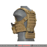 Lancer Tactical Split Front M4 Chest Harness CA-306TN - Tan Chest Rigs & Harnesses- ModernAirsoft.com