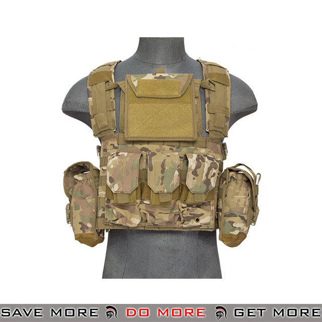 Lancer Tactical RRV Style Chest Rig - Arid plate carrier- ModernAirsoft.com