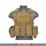 Lancer Tactical RRV Style Chest Rig - Tan plate carrier- ModernAirsoft.com