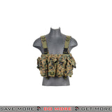 Lancer Tactical AK Chest Rig CA-308D - Digital Woodland Chest Rigs & Harnesses- ModernAirsoft.com