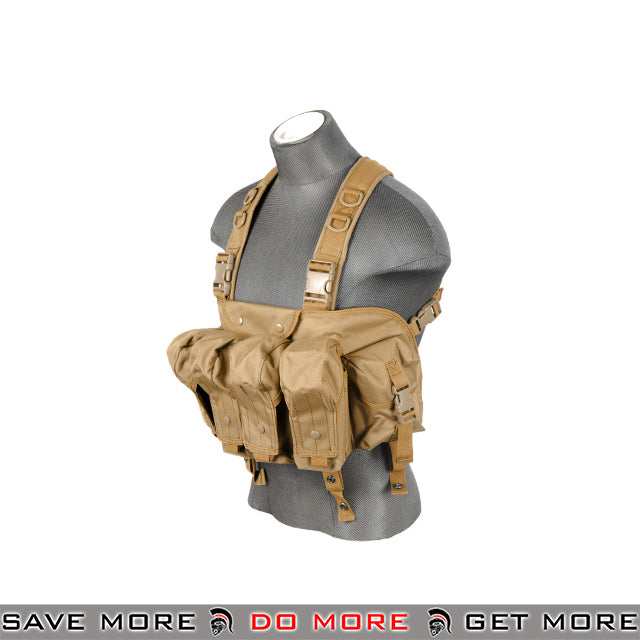 Lancer Tactical AK Chest Rig CA-308TN - Tan Chest Rigs & Harnesses- ModernAirsoft.com