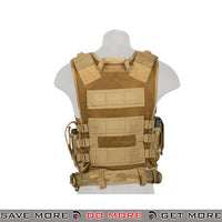 Lancer Tactical Cross Draw Vest - Multicam Vest- ModernAirsoft.com
