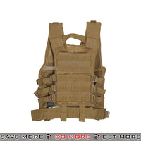 Lancer Tactical Youth Cross Draw Vest - Tan Vest- ModernAirsoft.com