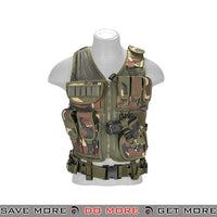 Lancer Tactical Cross Draw Vest - Woodland Vest- ModernAirsoft.com