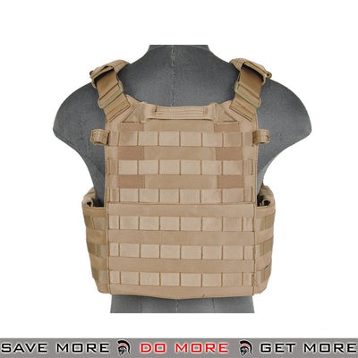 Lancer Tactical 9460 Plate Carrier with Internal Triple Magazine Pouch CA-311T2 - Tan plate carrier- ModernAirsoft.com
