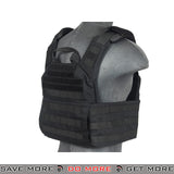 Lancer Tactical Banshee Style Speed Assault Plate Carrier w/ Pouches - Black plate carrier- ModernAirsoft.com