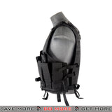 Lancer Tactical Cross Draw Ammo Vest - Black Vest- ModernAirsoft.com