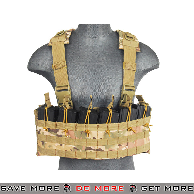 Lancer Tactical DZN Gladiator Style Chest Harness - Arid plate carrier- ModernAirsoft.com