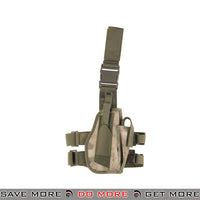 Lancer Tactical 92F Drop Leg Holster - Right Hand, Foliage Camo Holsters - Fabric- ModernAirsoft.com