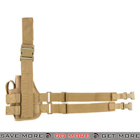 Lancer Tactical 92F Drop Leg Holster - Right Hand, Khaki Holsters - Fabric- ModernAirsoft.com