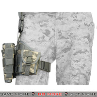 Lancer Tactical Padded Drop Leg Holster Platform - Right Hand, ACU Holsters - Fabric- ModernAirsoft.com