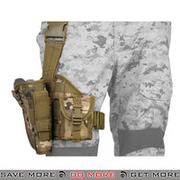 Lancer Tactical Padded Drop Leg Holster Platform - Right Hand, Arid Holsters - Fabric- ModernAirsoft.com