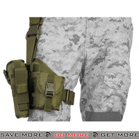 Lancer Tactical Padded Drop Leg Holster Platform - Right Hand, OD Green Holsters - Fabric- ModernAirsoft.com