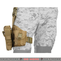 Lancer Tactical Padded Drop Leg Holster Platform - Right Hand, Tan Holsters - Fabric- ModernAirsoft.com