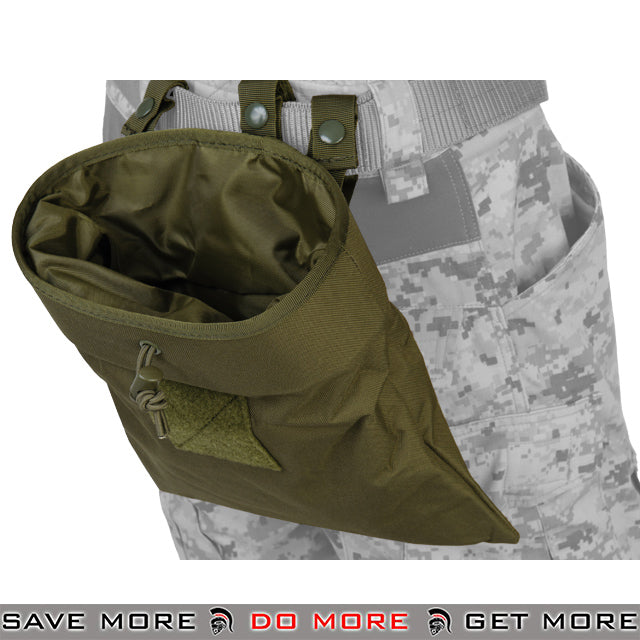 Lancer Tactical Large Foldable Dump Pouch - OD Green Dump Pouch- ModernAirsoft.com