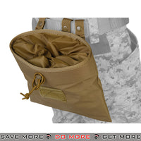 Lancer Tactical Large Foldable Dump Pouch - Tan Dump Pouch- ModernAirsoft.com