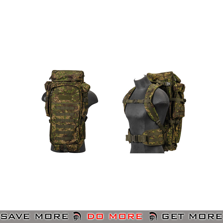 Lancer Tactical Escape and Evasion Survival Rifle Carry Pack Backpack - PC Camo Backpacks- ModernAirsoft.com