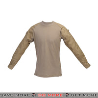 Lancer Tactical Airsoft Combat Shirt CA-363 - Tan Shirts- ModernAirsoft.com