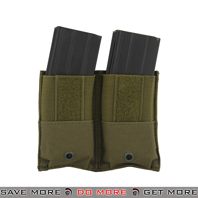 Lancer Tactical Kangaroo Double M4 / M16 Magazine Pouch - OD Green Ammo Pouches- ModernAirsoft.com