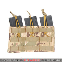 Lancer Tactical Triple Bungee MOLLE Magazine Shingle w/ Height Adjustment - Multicam Ammo Pouches- ModernAirsoft.com
