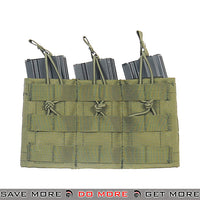 Lancer Tactical Triple Bungee MOLLE Magazine Shingle w/ Height Adjustment - OD Green Ammo Pouches- ModernAirsoft.com