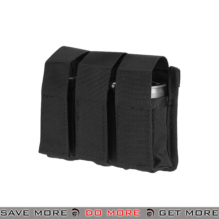 Lancer Tactical Triple M203 Grenade Shell Pouch CA-382BN - Black Black Pouches- ModernAirsoft.com