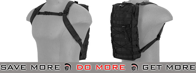 Lancer Tactical Hydration Backpack - Black Backpacks- ModernAirsoft.com