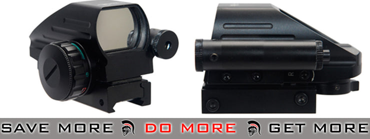 Lancer Tactical Red & Green Dot Sight w/ Red Laser & Remote Switch Red Dot Sights- ModernAirsoft.com