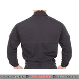 Lancer Tactical Airsoft Ripstop Long Sleeve Button Shirt CA-51171B - Black Shirts- ModernAirsoft.com