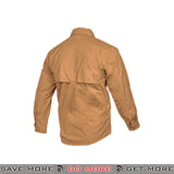 Lancer Tactical Airsoft Ripstop Long Sleeve Button Shirt CA-51171CB - Coyote Brown Shirts- ModernAirsoft.com