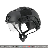 Lancer Tactical PJ Type Bump Helmet w/ Retractable Visor - Black
