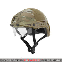 Lancer Tactical Ballistic Type Bump Helmet w/ Retractable Visor - Multicam Head - Helmets- ModernAirsoft.com