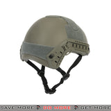 Lancer Tactical Ballistic Type Bump Helmet w/ Retractable Visor - Foliage Green Head - Helmets- ModernAirsoft.com