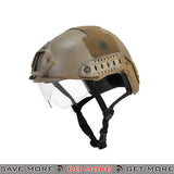Lancer Tactical Ballistic Type Bump Helmet w/ Retractable Visor - Snake Skin Head - Helmets- ModernAirsoft.com