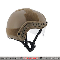 Lancer Tactical Ballistic Type Bump Helmet w/ Retractable Visor - Dark Earth