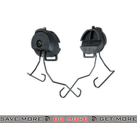 Lancer Tactical Helmet Rail Adapter Set for MSA Sordin Style Headsets - Black Head - Headsets- ModernAirsoft.com